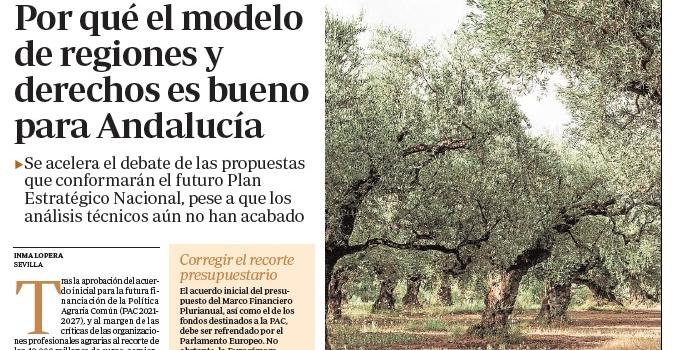 ¿Por qué el modelo de regiones y derechos es bueno para Andalucía, y para España?