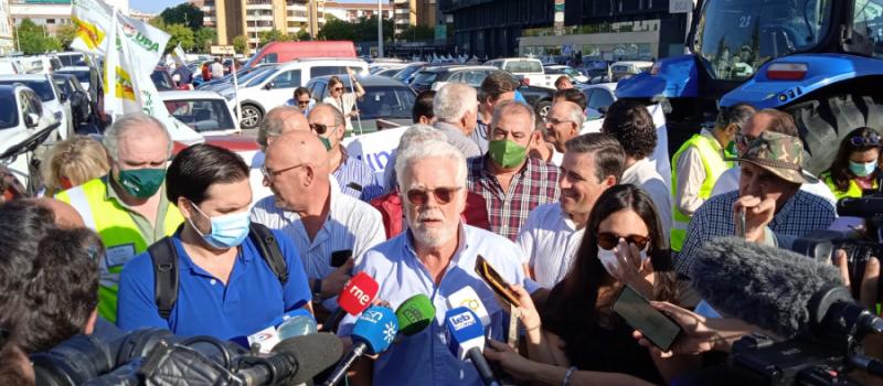 Un millar de vehículos claman en Sevilla por una PAC justa para los agricultores y los…